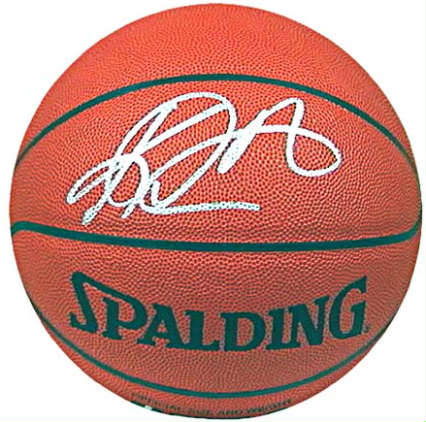 4f656e12c4b basketball autographed by Karl Malone (Los Anglese Lakers star