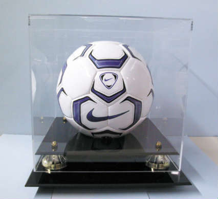 Soccer Ball Deluxe Display Case Cube